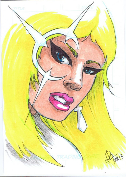 """Dagger"" Pencil and ink on sketchcard 2013 ©2015 Rob Langille (characters copyright respective owners)"