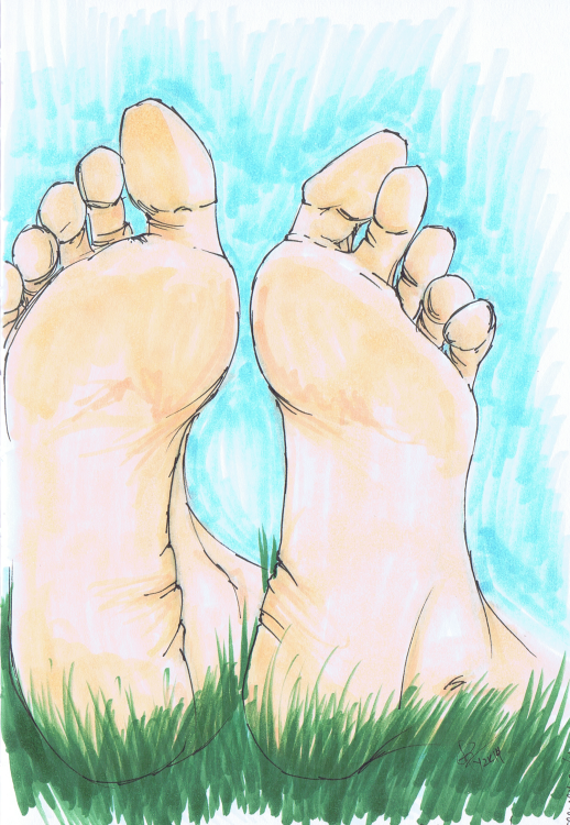 """I Hate Feet"" Sketchbook 001 - Pencil and ink February 23rd, 2014 ©2015 Rob Langille"