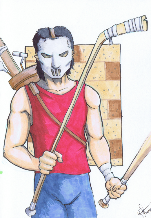 """Casey Jones"" Sketchbook 001 - Pencil and ink March 29, 2014 ©2015 Rob Langille (character copyright respective owners)"