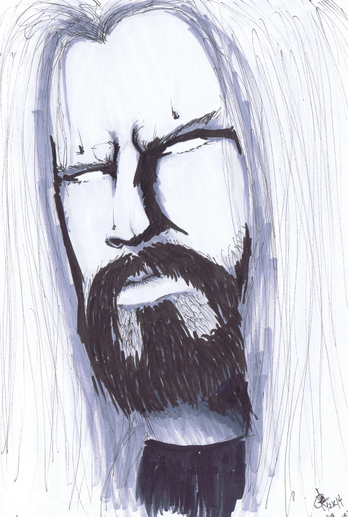 """Rob Zombie"" Sketchbook 001 - Pencil and ink November 26, 2014 ©2015 Rob Langille"