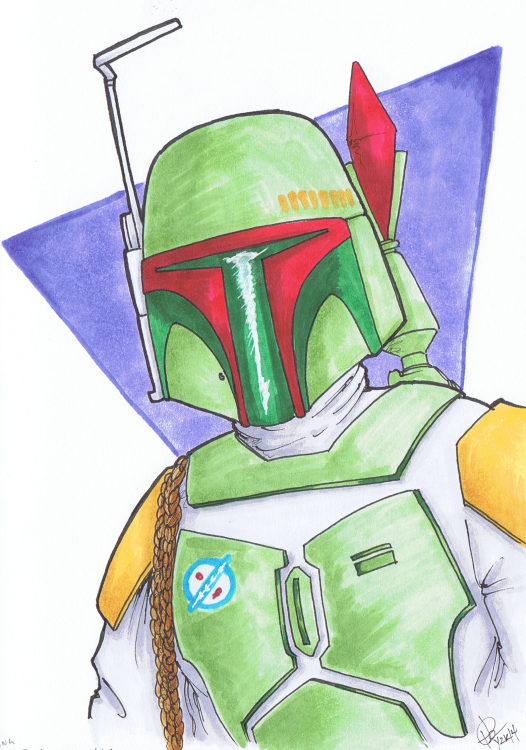 """Young Boba"" Sketchbook 001 - Pencil and Ink December 14, 2014 ©2015 Rob Langille (characters copyright respective owners)"