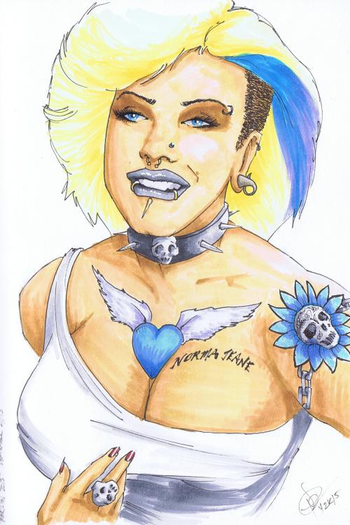 """""""Marilyn 2015"""" Sketchbook 001 - Pencil and ink September 24, 2015 ©2015 Rob Langille"""